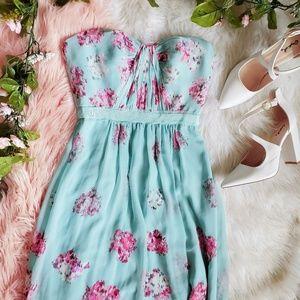 BCBGMAXAZRIA Blue Maxi Dress